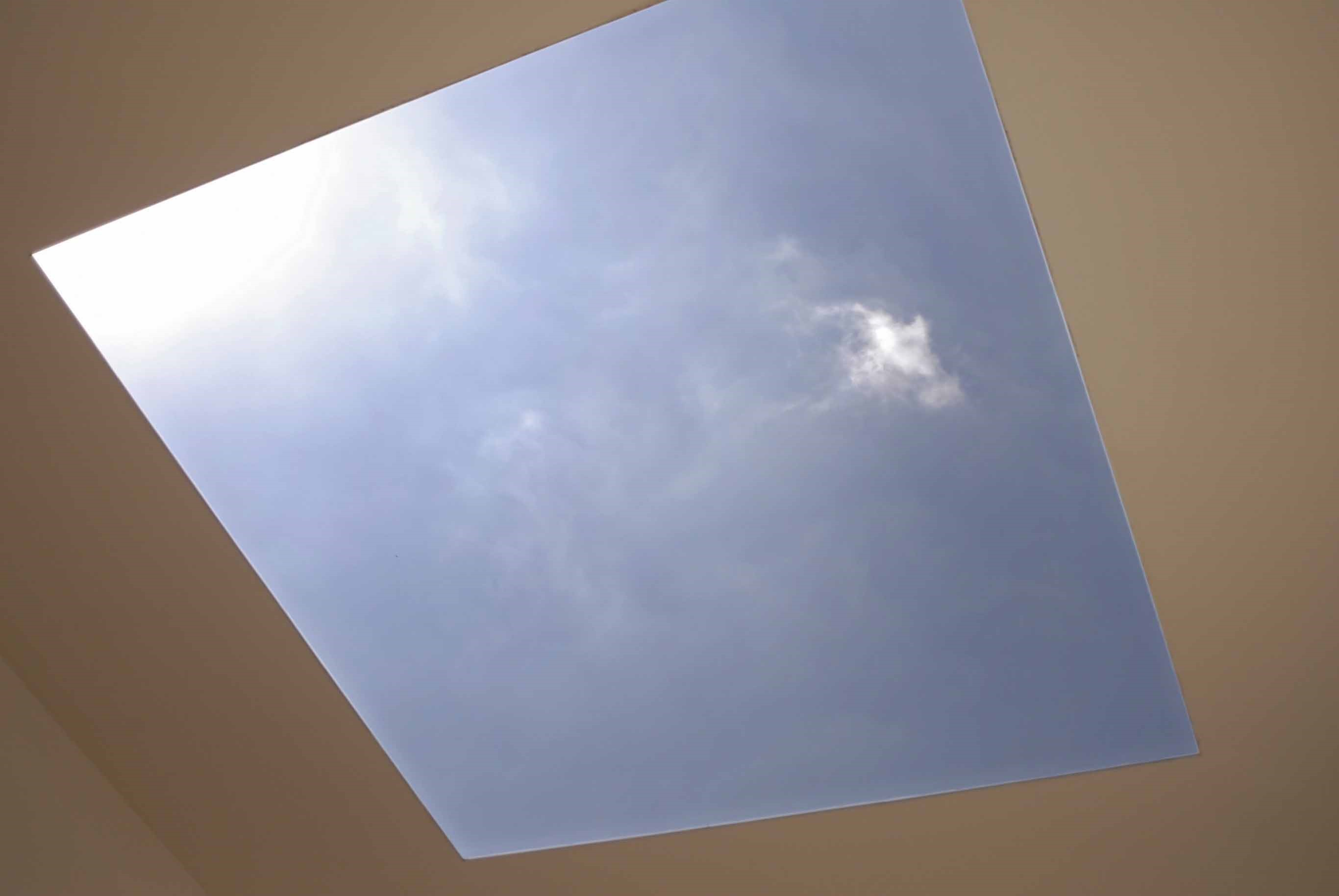 a view from a rooflight as seen from below